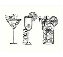 Favourite Drinks Art Print