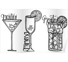 Favourite Drinks Poster