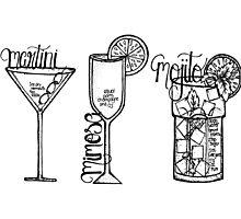 Favourite Drinks Photographic Print