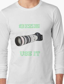 the size of the lens 3 Long Sleeve T-Shirt