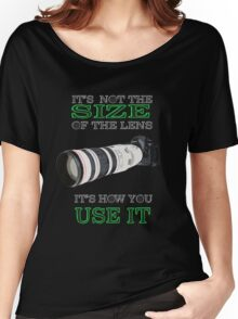 the size of the lens 3 Women's Relaxed Fit T-Shirt