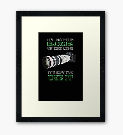 the size of the lens 3 Framed Print