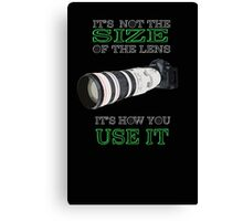 the size of the lens 3 Canvas Print