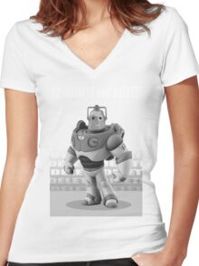CYBER STORY Women's Fitted V-Neck T-Shirt
