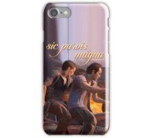 Sic parvis magna iPhone Case/Skin