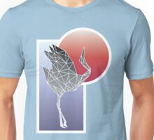 Fractal Crane Unisex T-Shirt