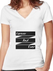 F.A.E (Forever And Ever) Women's Fitted V-Neck T-Shirt