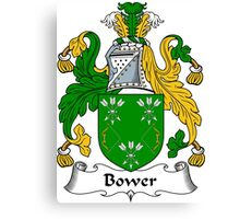 Bower Coat of Arms / Bower Family Crest Canvas Print