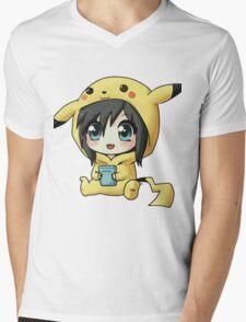 Cute Pikachu Pajama Mens V-Neck T-Shirt