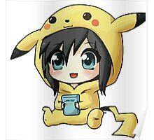 Cute Pikachu Pajama Poster