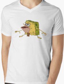 Caveman Spongebob Meme Mens V-Neck T-Shirt