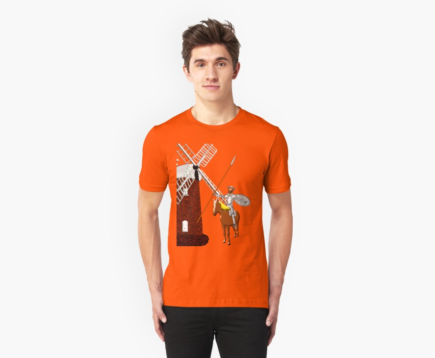Don Quixote Meets a Giant_T-shirt & leggings by Dennis Melling