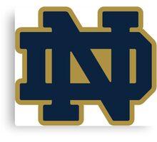 Notre Dame Blue Gold Logo Canvas Print