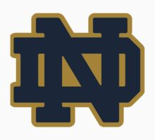 Notre Dame Blue Gold Logo Baby Tee