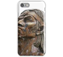 Weathered Statue of an Incan Warrior iPhone Case/Skin