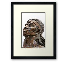 Weathered Statue of an Incan Warrior Framed Print
