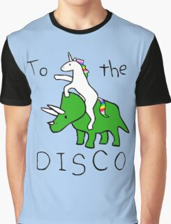 To The Rave! (Unicorn Riding Triceratops) Graphic T-Shirt