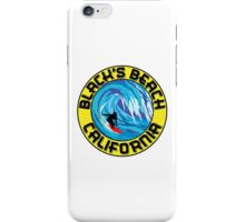 Surfer BLACK'S BEACH California Surfing Surfboard Waves Ocean Beach Vacation iPhone Case/Skin