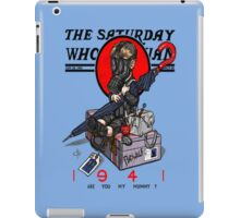 the saturday whovian iPad Case/Skin