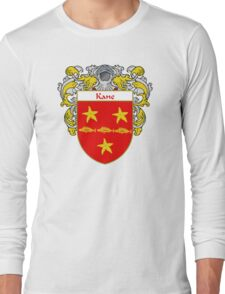 Kane Coat of Arms/Family Crest Long Sleeve T-Shirt