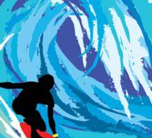Surfer VENICE BEACH California Surfing Surfboard Waves Ocean Beach Vacation Sticker