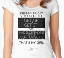 FIFTH HARMONY LYRICS #3 - That's My Girl Women's Fitted Scoop T-Shirt