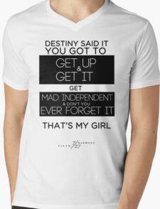 FIFTH HARMONY LYRICS #3 - That's My Girl Mens V-Neck T-Shirt
