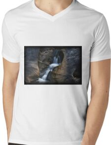 Autumn Rocky Trickle Mens V-Neck T-Shirt