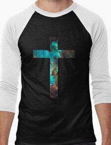 Green Galaxy Cross Men's Baseball ¾ T-Shirt