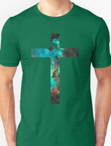 Green Galaxy Cross Unisex T-Shirt