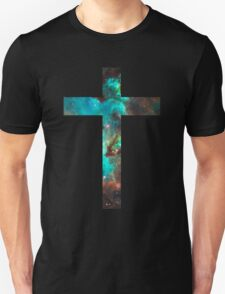 Green Galaxy Cross Unisex T-Shirt