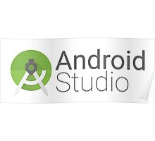 android studio logo Poster