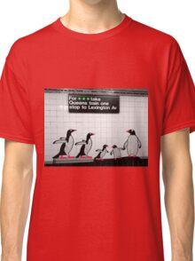 NYC Subway Penguins Classic T-Shirt