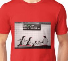NYC Subway Penguins Unisex T-Shirt