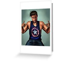 Blue T-shirt Greeting Card