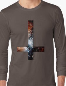 Red Galaxy Inverted Cross Long Sleeve T-Shirt