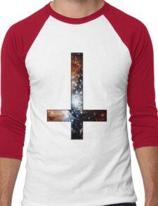 Red Galaxy Inverted Cross Men's Baseball ¾ T-Shirt