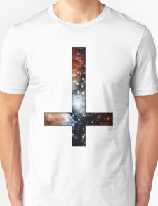 Red Galaxy Inverted Cross Unisex T-Shirt