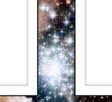 Red Galaxy Inverted Cross Sticker