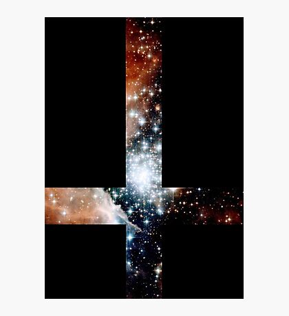Red Galaxy Inverted Cross Photographic Print