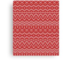 christmas seamless knitting pattern Canvas Print