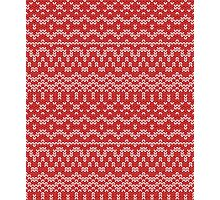 christmas seamless knitting pattern Photographic Print
