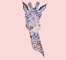 Blue Space Giraffe One Piece - Short Sleeve
