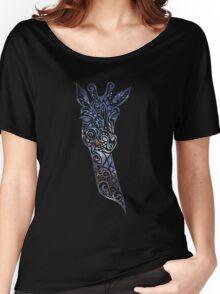 Blue Space Giraffe Women's Relaxed Fit T-Shirt
