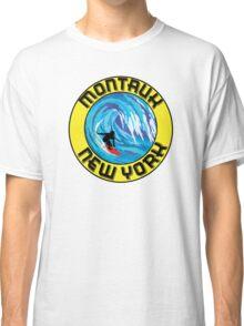 Surfing MONTAUK NEW YORK Surf Surfboard Waves LONG ISLAND Classic T-Shirt