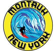 Surfing MONTAUK NEW YORK Surf Surfboard Waves LONG ISLAND Photographic Print