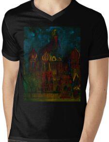 Watercolor City  Mens V-Neck T-Shirt