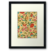 Colorful Flowers Collage Yellow Tones Framed Print