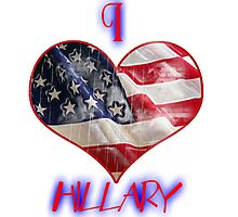 with hillary Photographic Print