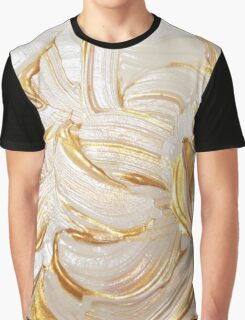 Cream & Gold Wet Paint Graphic T-Shirt